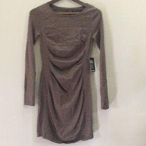 Metallic sparkle long sleeved dress